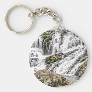 creeks pours over rocks keychain