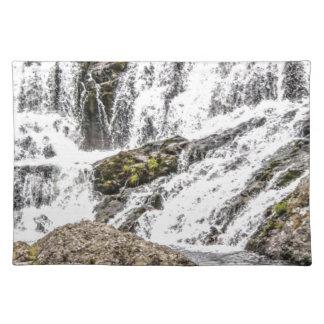 creeks pours over rocks placemat