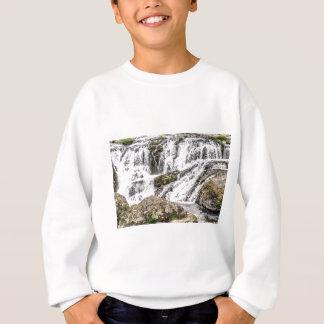 creeks pours over rocks sweatshirt