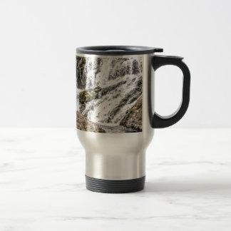 creeks pours over rocks travel mug