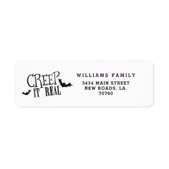 Creep It Real Halloween Return Address Label