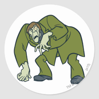 Creeper Villains Classic Round Sticker