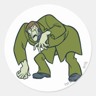 Creeper Villains Round Sticker