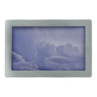 Creeping Clouds 1 Rectangular Belt Buckles