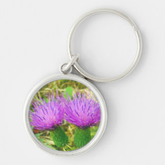 Creeping or Field Thistle Key Ring