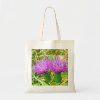 Creeping or Field Thistle Tote Bag