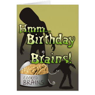 Creepy and Cute - Birthday Brains Card