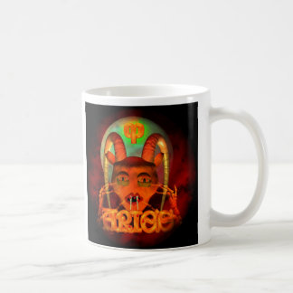 Creepy Aries zodiac horoscope by Valxart Coffee Mug