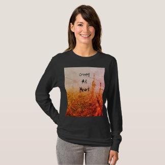 Creepy at Heart Womans Long Sleeved T-Shirt
