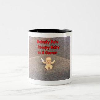 Creepy Baby in a Corner Ceramic Mug