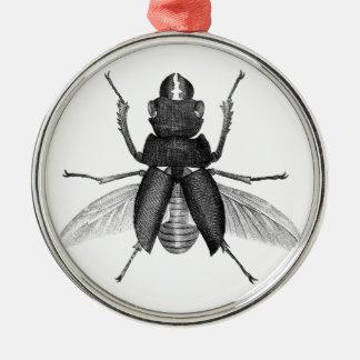 Creepy Beetle Bug with Scarey Pincher Mandibles Metal Ornament