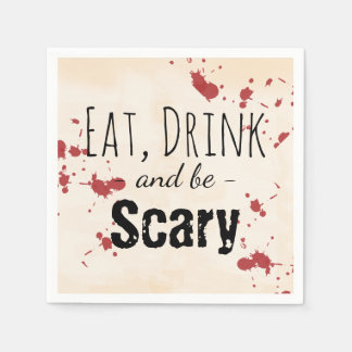 Creepy Blood Splatter Halloween Disposable Napkin