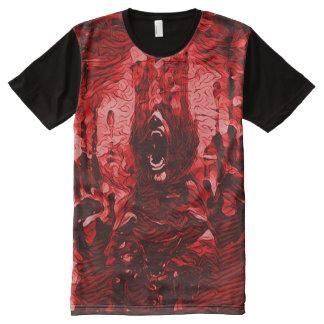Creepy Bloody Demon Death Dark Horror Art All-Over-Print T-Shirt