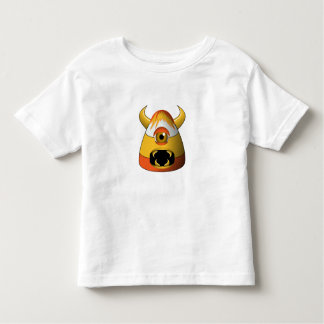 Creepy Candy Corn Angry Monster Toddler T-shirt