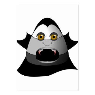 Creepy Candy Corn Dracula Large Business Card