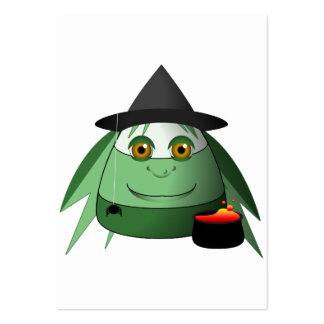 Creepy Candy Corn Witch Business Card