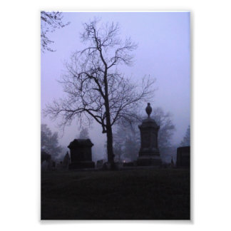 Creepy Cemetery Photo