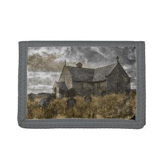 Creepy churchyard trifold wallets