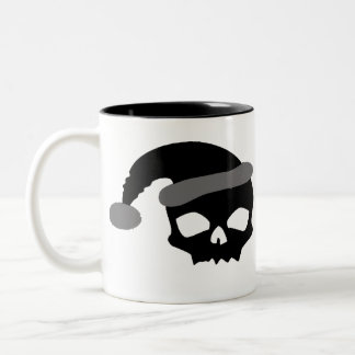 Creepy Claus Two-Tone Coffee Mug
