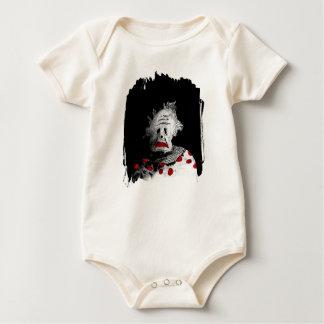 Creepy clown baby bodysuit