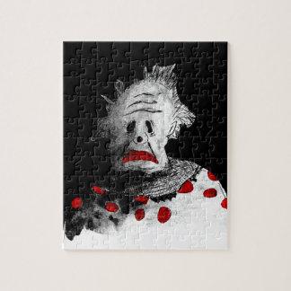 Creepy clown jigsaw puzzle