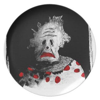 Creepy clown party plates