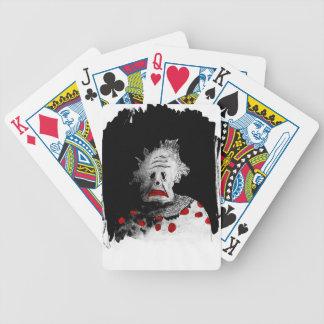 Creepy clown poker deck