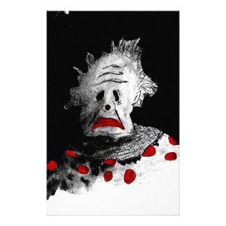 Creepy clown stationery