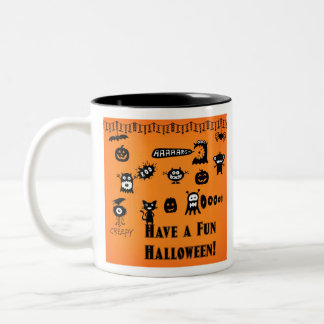 Creepy Crawlies Halloween Two-Tone Coffee Mug