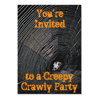 Creepy Crawly Halloween Party Card