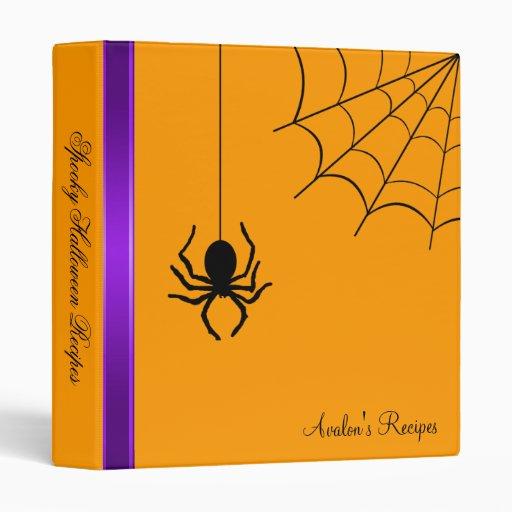 Creepy Creepy Spider Halloween Recipe Binder