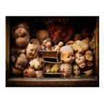 Creepy, Decapitated Doll Heads Postcard