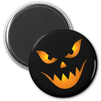 Creepy demon face Halloween magnets