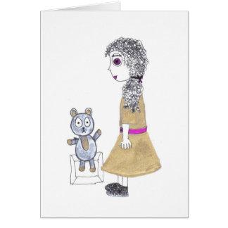 creepy doll card