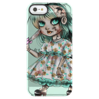 Creepy doll clear iPhone SE/5/5s case