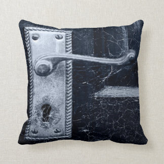 Creepy Door Handle Throw Pillow