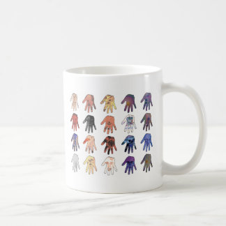 Creepy Faces and Eyes in Hands Coffee Mug