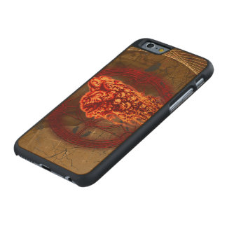 Creepy flying  skulls carved® maple iPhone 6 case