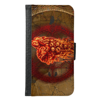 Creepy flying  skulls samsung galaxy s6 wallet case