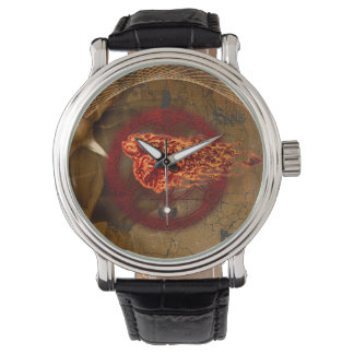 Creepy flying  skulls watch