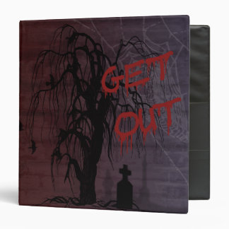 Creepy, Get Out Halloween Binder