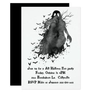 Creepy Ghost Halloween Party Invitation