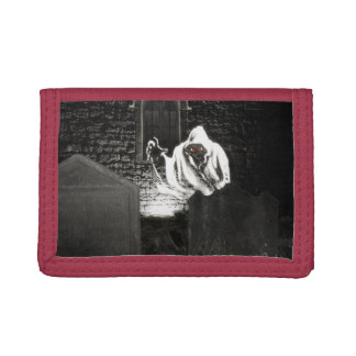 Creepy ghost tri-fold wallets