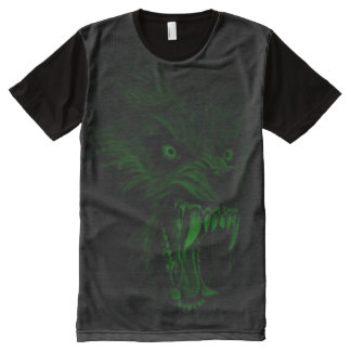 Creepy Glow in the Dark Werewolf Dark Horror Art All-Over-Print T-Shirt
