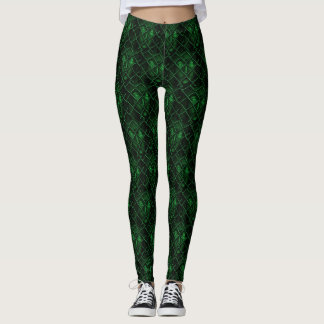 Creepy Green Eyes Leggings