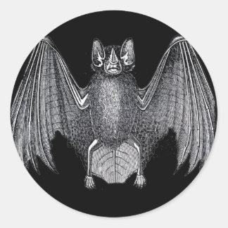 Creepy Halloween Bat Classic Round Sticker