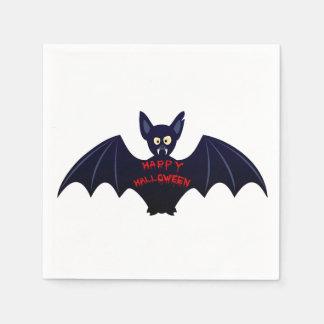 Creepy halloween bat disposable napkin