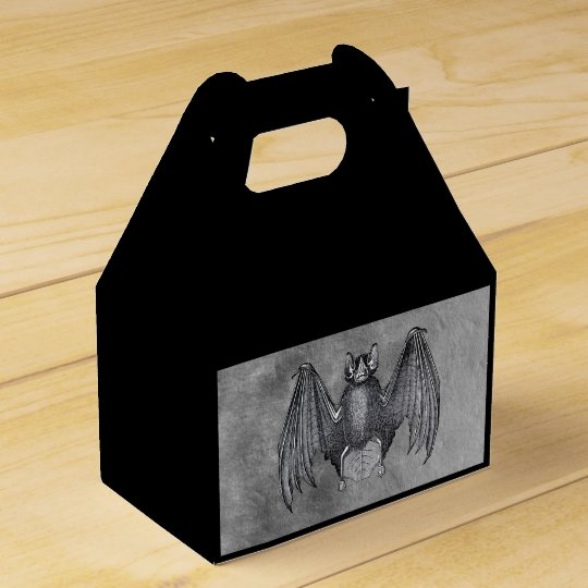 Creepy Halloween Bat Favor Box