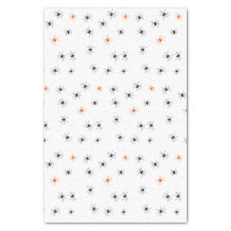 Creepy Halloween Black Orange Spider Tissue Paper