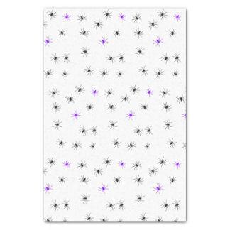 Creepy Halloween Black Purple Spider Tissue Paper
